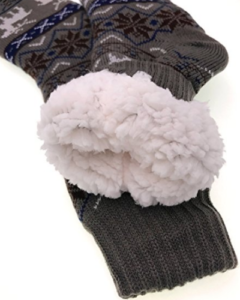 cozy nonslip fleece lined slipper socks for men
