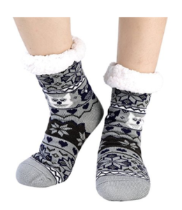cozy nonslip fleece lined slipper socks for women