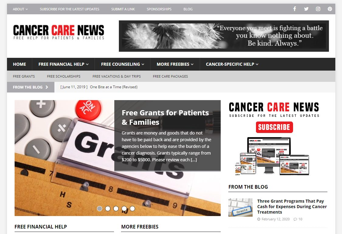 Cancer Care News Sponsorship Program
